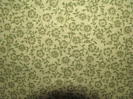 VIP Sage Green Tone Tiny Flowers on Sage Green Tone Print Cotton Fabric  - $8.95