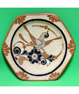 Vintage 1985 Hand-Painted Stoneware Hexagon Wall Plate, Nogales, Mexico - $16.95
