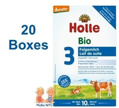 Holle Stage 3 Organic Baby Formula With DHA 20 Boxes 600g Free Shipping - $472.95