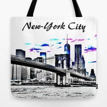 Tote bag All over print Design 26 New-York City Digital art painting L.D... - $26.99+
