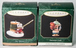 2 Hallmark Miniature Keepsake Ornaments 1997 Sew Talented Nutcracker Guild  - $11.50