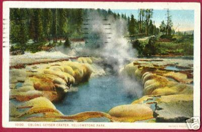 Primary image for YELLOWSTONE PARK WYOMING Oblong Geyser Crater 1924 WY