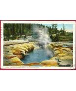 YELLOWSTONE PARK WYOMING Oblong Geyser Crater 1924 WY - $5.00