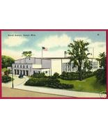 DETROIT MICHIGAN Naval Armory Jefferson Ave Linen MI - $5.00