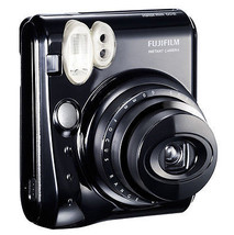 Piano Black FujiFilm Fuji Instax Mini 50S Instant Photos Films Polaroid ... - $121.99