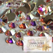 400Pcs Genuine 2058 Swarovski AB Crystal SS16 Non Hotfix Flatback Rhines... - $15.83