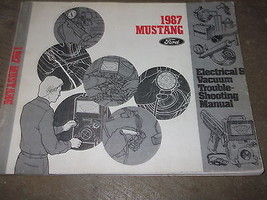 1987 Ford Mustang Electrical Wiring Diagrams Service Shop Repair Manual ... - $69.25