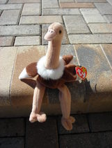 Beanie Babies Baby TY Stretch the Ostrich Brown Tan 1997 Retired Collect... - $4.90
