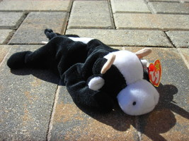 Beanie Babies Baby TY Daisy the Cow Black White 1994 Retired Collectible - $4.90