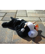 Beanie Babies Baby TY Daisy the Cow Black White... - $4.90