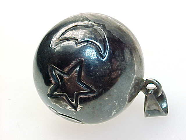 STERLING Silver HARMONY Ball Musical Chime PENDANT - Sun, Star, Moon, Planet image 2