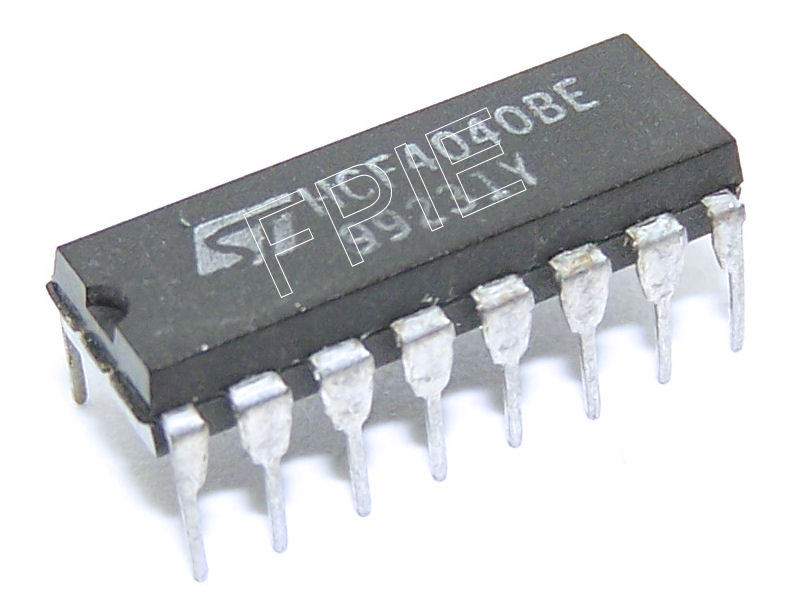 HCF4040BE Ripple-Carry Binary Counter/Divider 12 Stage STMicroelectronics