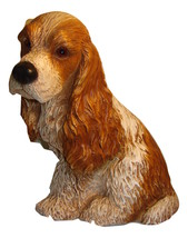 Vintage--1983 Plaster Cocker Spaniel Figurine --Universal Statuary Corp.... - $24.50