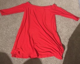 Planet Gold Chinese Red Off The Shoulder Short Dress XL Long Sleeve NWT - $28.05
