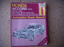 Honda Accord Haynes Repair Manual, Shop Service 1976-1983 - $5.79