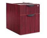 Alera Valencia Series 3/4 Box/File Pedestal, 15-5/8 x 21-1/2 x 19-1/4, Mahogany