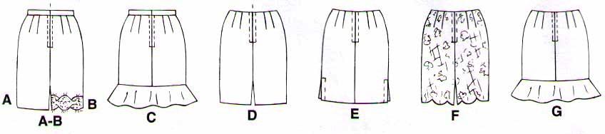 1997 SET OF SKIRTS Pattern 9148-m Size 8-10-12 - UNCUT