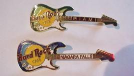 Lot Of 2 Hard Rock Cafe Guitar Pin Pins Las Vegas & Miami - $15.79