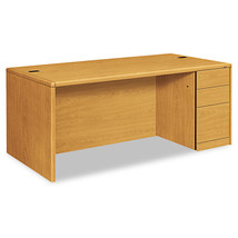 HON 10700 Single Pedestal Desk, Full-Right Pedestal, 72 x 36 x 29-1/2, H... - $909.99