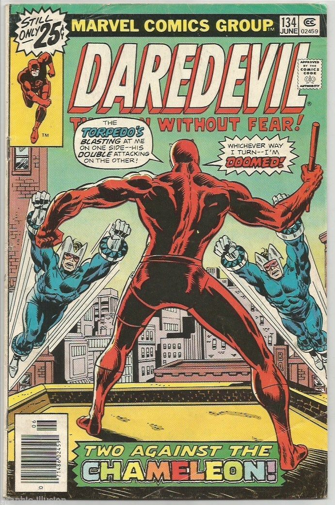 Daredevil #134 Marvel Comics 1976 VG range;  Wolfman / Brown