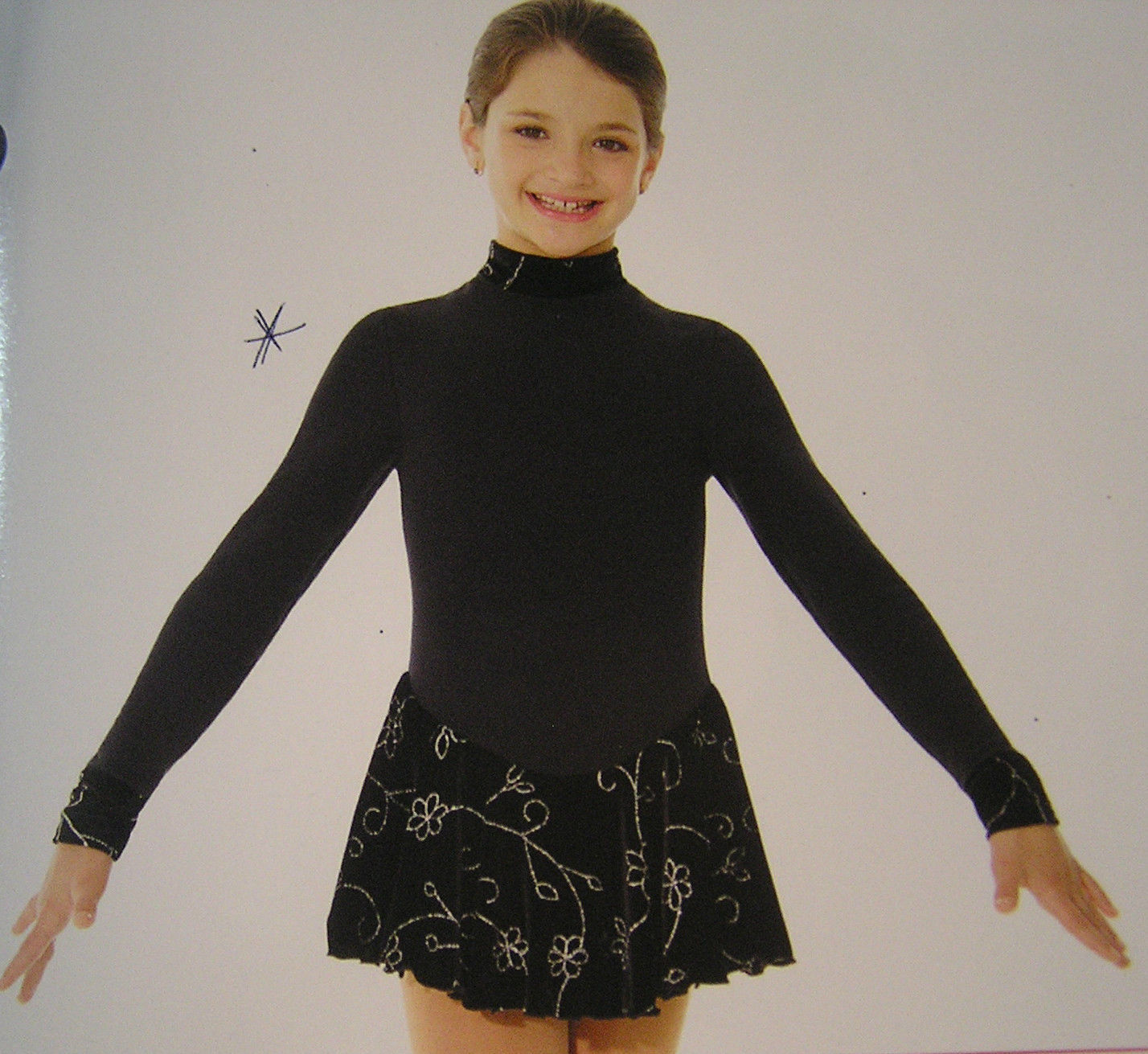 Primary image for Mondor Model 4403 Polartec Long Sleeve Skating Dress Color DD Size 8-10