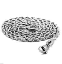 """Men & Lady Stainless Steel 3.2mm French Rope Link Chain Necklace 30"""" Inches - £7.80 GBP"""