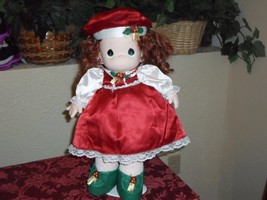 "Precious Moments 16"" Red Christmas Doll - 1999 - $15.99"