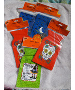 "72 Assorted Halloween Treat Bags 5"" x 6"" Jack-O-Lanterns, Skulls, Witches - $7.91"