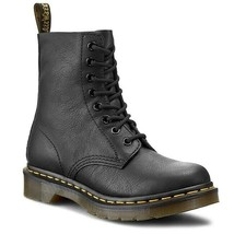 Dr. Martens 1460 Pascal Virginia Leather Ankle Black Boots Womens Shoes 13512006 - $159.99