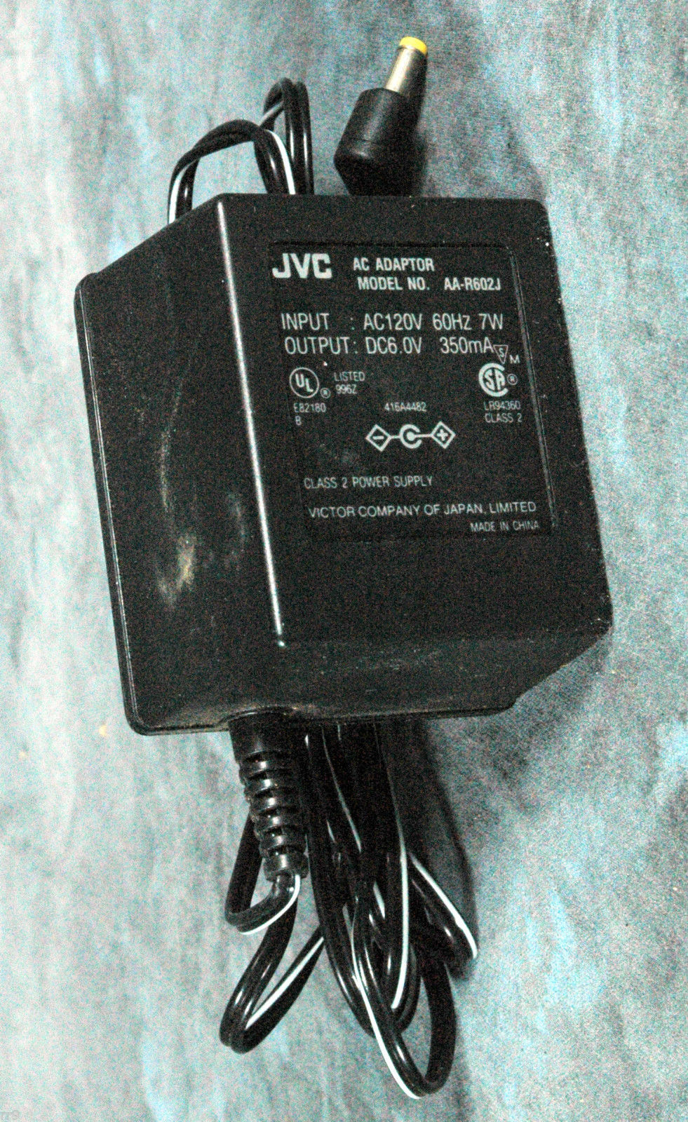 Primary image for JVC AC Adaptor Model No. AA-R602J 6.0V 350mA
