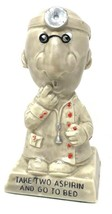 "Vintage Doctor Medical Statue Gift 1971 USA ""TAKE TWO ASPIRIN AND GO TO ... - $80.99"