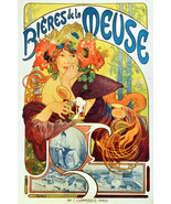 "11x14""Decor Canvas.Interior design Art Nouveau.Mucha French Nymph.6253 - $28.05"