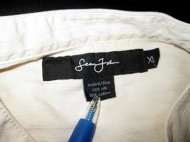 Sean John Silk Blend Pale Yellow Mandarain Collar Long Sleeve Shirt Size XL - $34.99