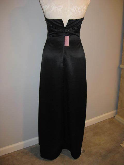 Eden Maids Black Beaded & Sequin Gown Size 5/6