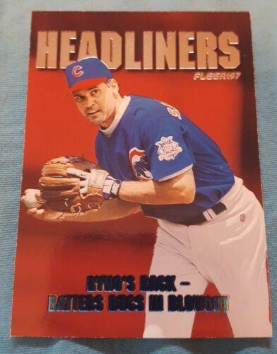 1997 Fleer Headliners Chicago Cubs Baseball Card #18 Ryne Sandberg