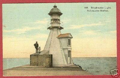 Primary image for Milwaukee WI Breakwater Light Harbor Postcard BJs