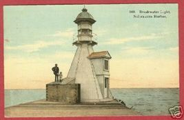 Milwaukee WI Breakwater Light Harbor Postcard BJs - $12.50