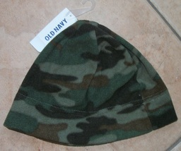boys child old navy camoflauge hat beanie nwt size l/xl - $4.99