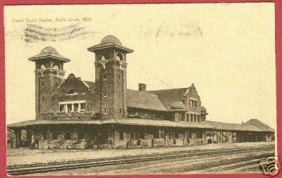 Primary image for Battle Creek MI Postcard Grand Truck Station Depot BJs