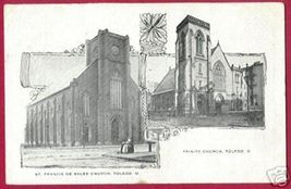 TOLEDO OHIO St Francis Trinity Churches 1910 OH - $12.50