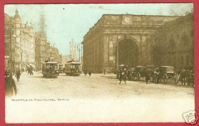 NEWCASTLE ON TYNE ENGLAND Central Station Postcard BJs