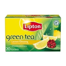 Lipton Green Tea Lemon Ginseng Tea Bags - $7.87