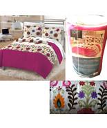 NEW PERI SASHA-TWIN/XL Comforter Sham Cotton BOHO FLORAL Pink Brown Dorm... - $59.37
