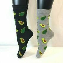 2 PAIRS Foozys Women's Socks, AVOCADO Print, NEW - $8.99