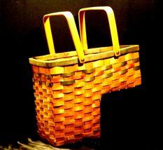 Double Handled Swing Basket Handmade AA19-1577 Vintage image 10