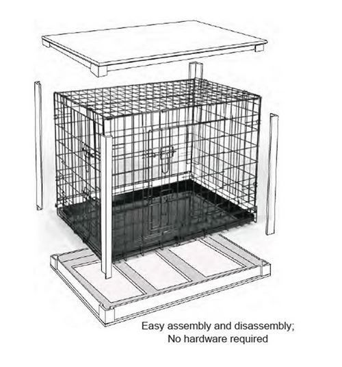 Wood Wire Dog Crate Table Pet Cage End Table Pet Kennel
