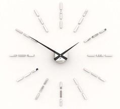 Design Modern Wanduhr Spiegel Chrom Klebe Uhr 5... - $31.86