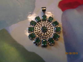 . EMERALD PENDENT - £9.09 GBP