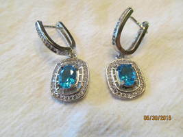 LONDON BLUE EARRINGS, 1 1/2 inch. - £8.89 GBP