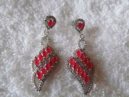 RUBY EARRINGS, (STUNNING) 925, NEW. - £11.11 GBP